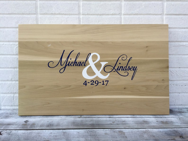 1c4ec2c8e Sale Wedding Guestbook board with Pen. Wood Guest book