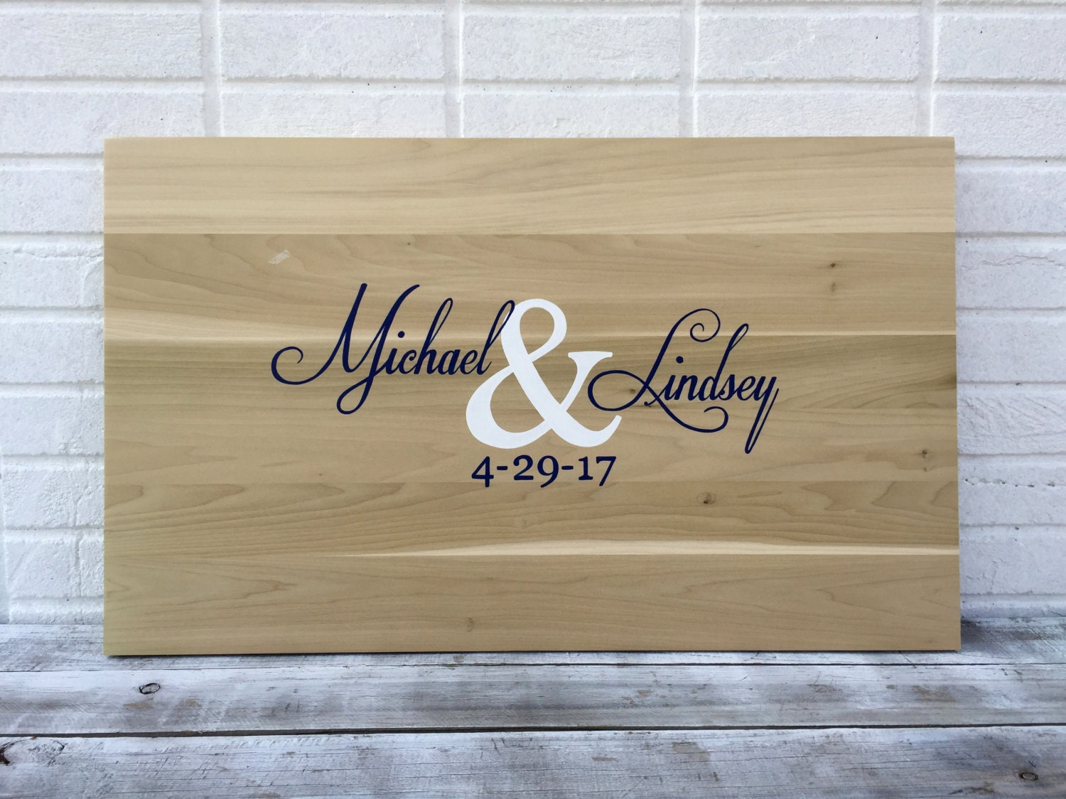 Alternative Wedding Gifts: Sale!!! Wedding Guestbook Board With Pen. Wood Guest Book