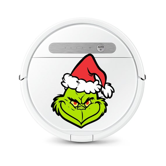 Grinch decal sticker for Robot Vacuum cleaner. Funny stickers svg.