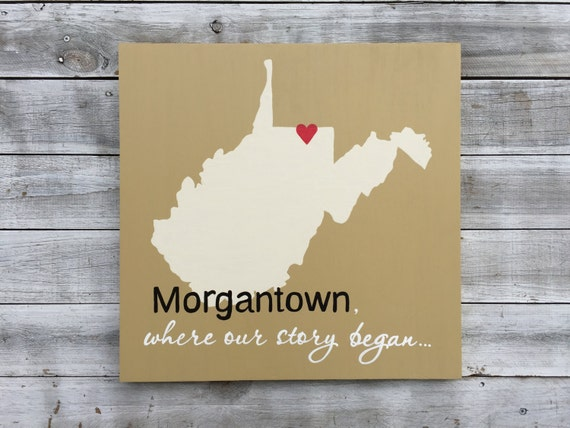 Wood state sign, Where our story began Wall Wood Art, Wooden West Virginia Map sign, Unique Wedding gift.