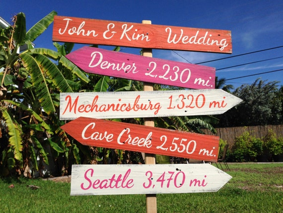 Wedding welcome sign. Wood Directional Sign, Outdoor Wedding Decoration, Rustic Ceremony Sign, Gift for Family / Friends, Wood yard decor