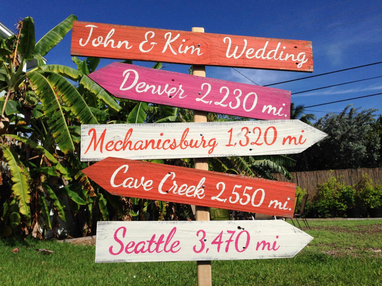 Wedding Welcome Sign Wood Directional Sign Outdoor Wedding