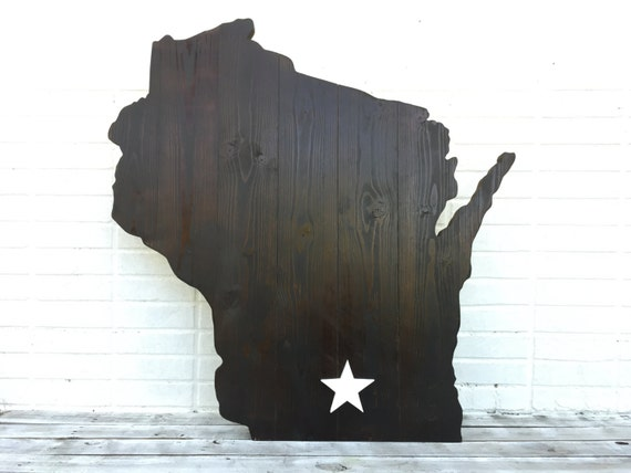 Home State Wooden 3D Sign Wall Art Gift for Dad. Wood Map sign. Man Cave decor