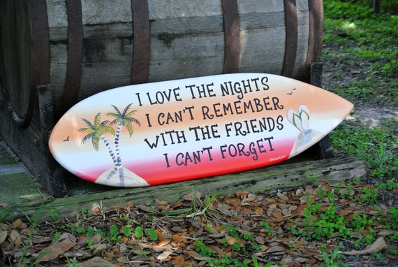 Wood sign for Home Bar. Pool deck decor for outside. Surfboard wall decor patio.