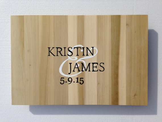 Newlywed Christmas Gift Wood Guestbook Alternative Sign, Unique Wedding Guest book gift idea  Comes with matching Sharpie Pen!!!