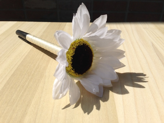 Sharpie Pen for Wedding Guestbook  Flower Sharpie Pen  custom pen