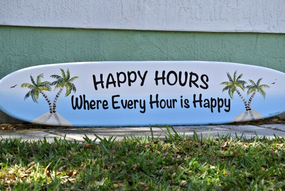 Wood sign for Home Bar. Pool deck decor for outside. Surfboard wall art.