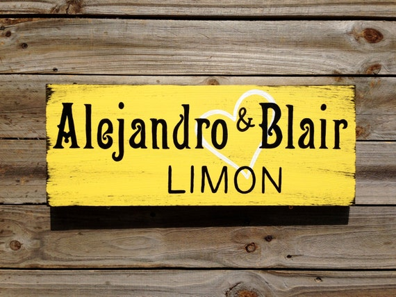 Rustic Last Name Wedding Gift, Family Name Wooden Sign, Personalized Anniversary Gift, Wood Wedding Decor