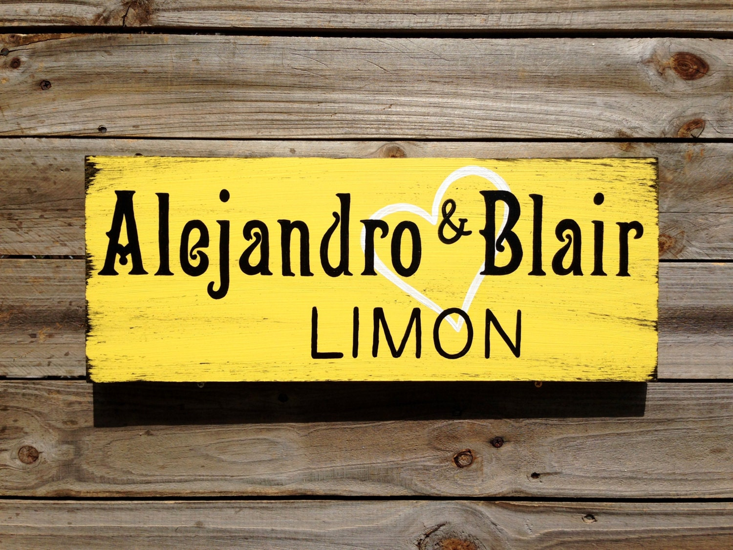 Rustic Last Name Wedding Gift, Family Name Wooden Sign, Personalized ...
