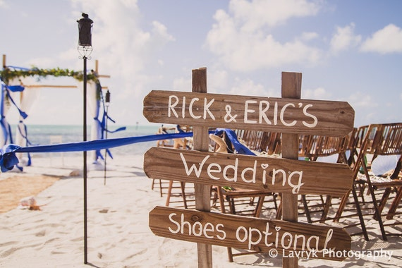 Wedding gift for couples, Beach Sign on wood,Shoes Here VOWS there Love Everywhere Couples Gift,Shoes Optional Directional Arrow Sign