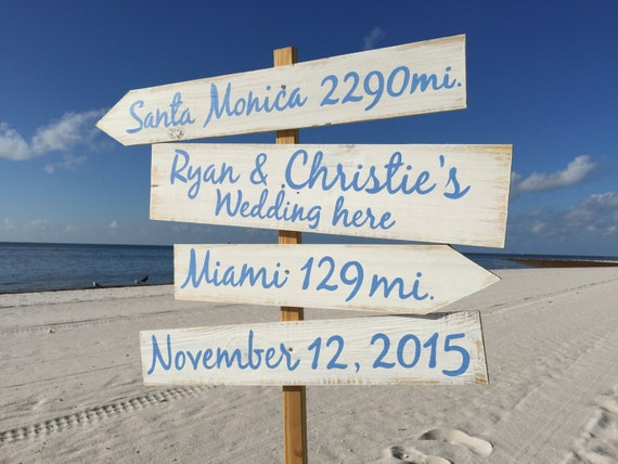 Gift for family, Beach Direction Sign, Nauitcal Wedding Decor Wedding Gift Idea, Beach Wedding decor, Wood yard decor