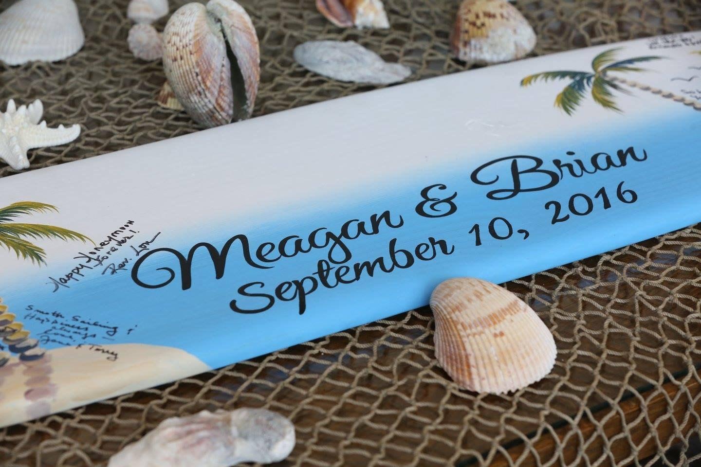 Surfboard Guestbook idea, Wood Guest book Wedding Sign, Beach ...