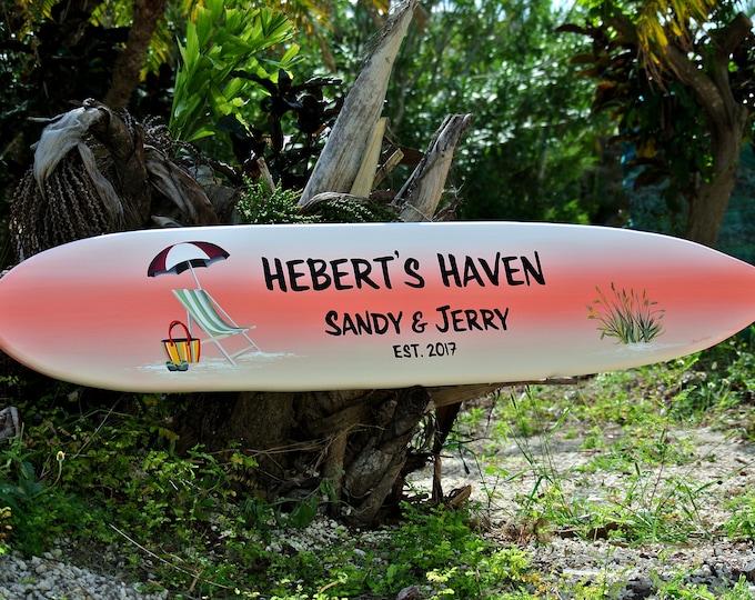 Beach house sign gift, Lake house decor. Family name wooden sign. Tiki bar decor. Housewarming gift first home idea