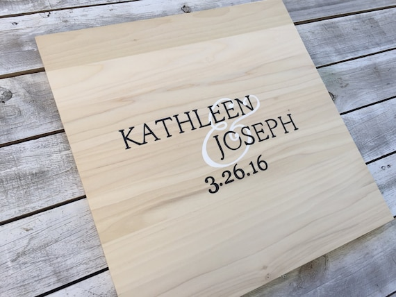 Unique Guest Book Ideas, Wedding Guest book Wood Sign, Rustic Guestbook With Decorative Pen