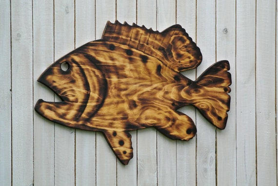 Wood Grouper fish decor Wall art. Goliath Grouper wooden sign gift for Dad. man Cave decor