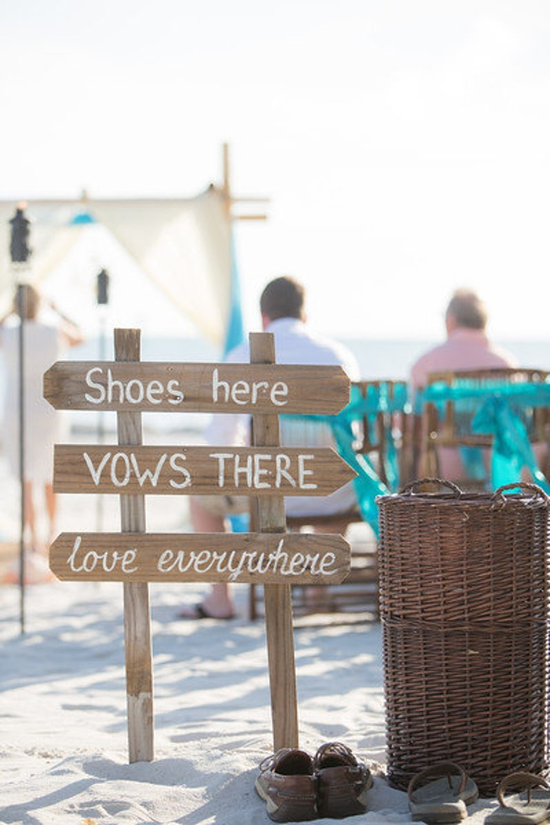 Gift for couple Rustic wedding decor Beach Wedding sign wood with Names