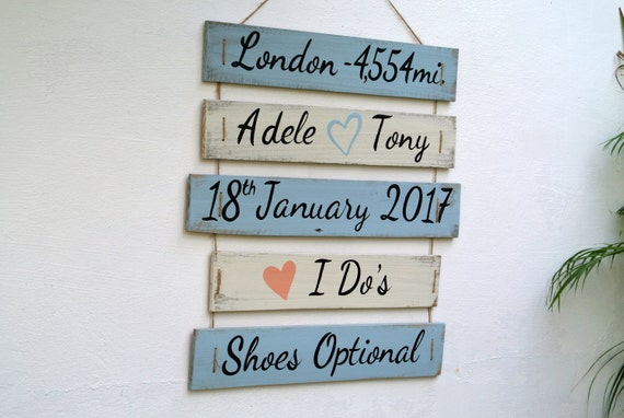 Personalized Wedding wood sign. I Do's Shoes optional. Nautical Beach Wedding Decor. Yard decoration sign
