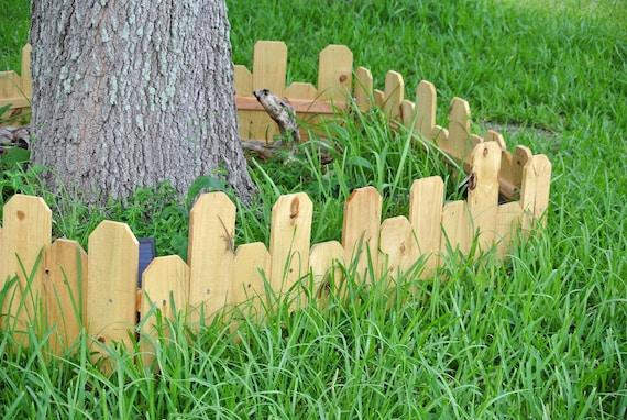 Garden fence border Wood Landscape Edging for gardens. ANY COLORS