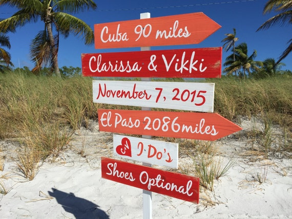Beach Wedding Decor Sign Wood. Ceremony Decoration for wedding. Destination sign. Gift for couple personalized.