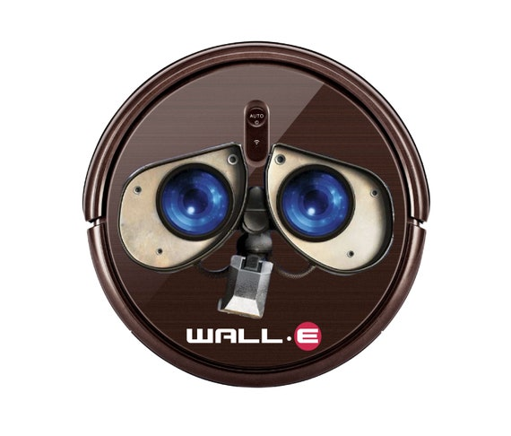 Wall e decal sticker for Robot Vacuum cleaner. Funny stickers svg.