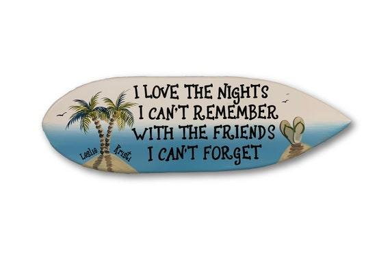 Gift for friend Christmas. I love the nights wood sign surfboard. Christmas gift idea. Beach house patio decor.
