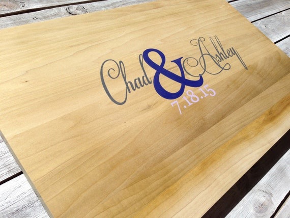 Newlywed Christmas Gift Wedding Guest Book Sign, Rustic Wood Guestbook Alternative, Wooden Sign Board