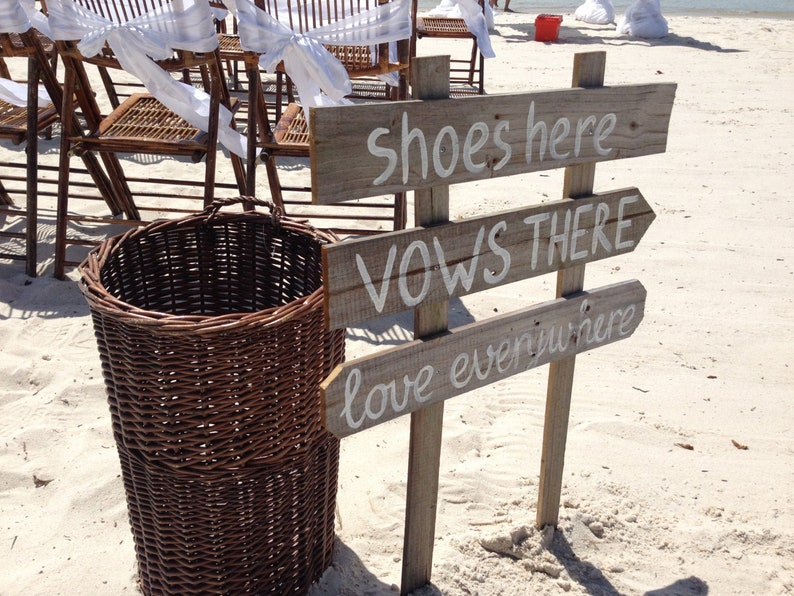 Shoes Here Vows There Love Everywhere wedding sign rustic. image 0