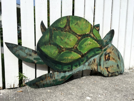 Birthday Gift idea, Turtle Wood Decor, Beach House, Wooden Turtle Wall Art. Outdoor wall decor, Housewarming Gift Idea