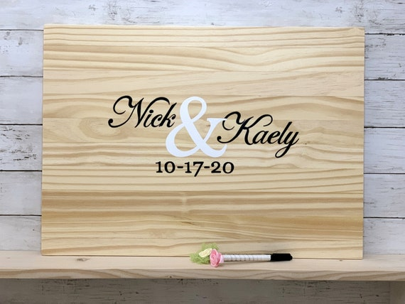 Wedding guest book alternative. Wood wedding decor. Guestbook sign in board.