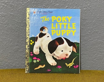 Vintage The Poky Little Puppy Little Golden Book 1970