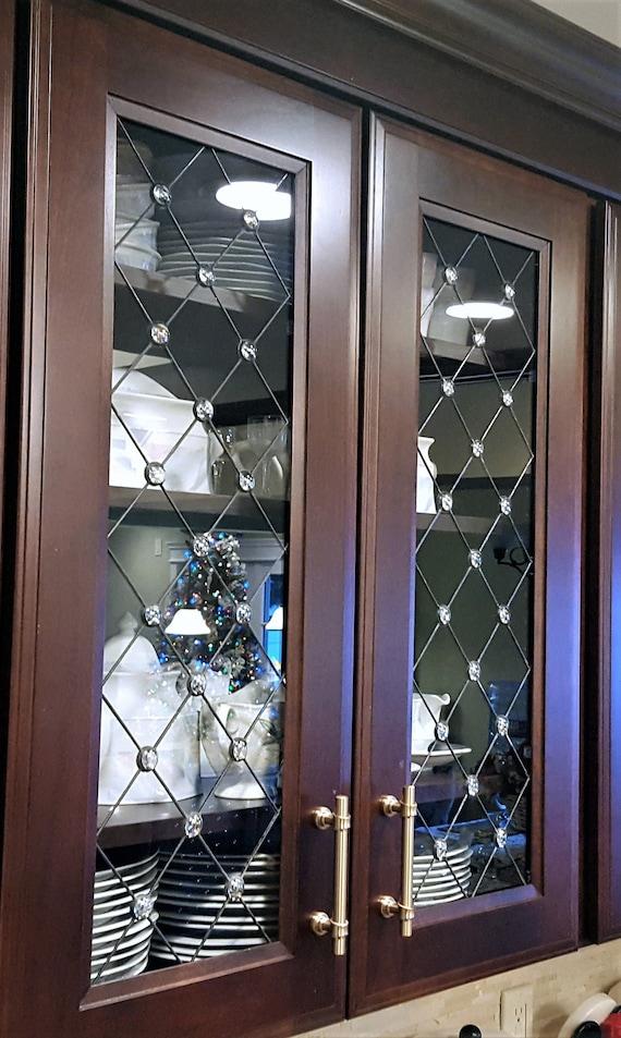 Glass Insert Kitchen Cabinets