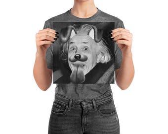 Albert Einstein Filter Poster