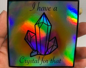 Crystal gemstone holographic metallic stickers