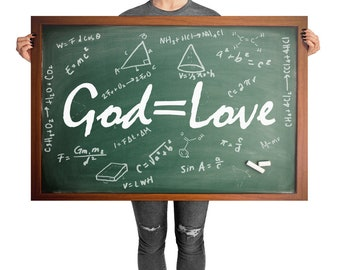 God is Love Photo paper poster