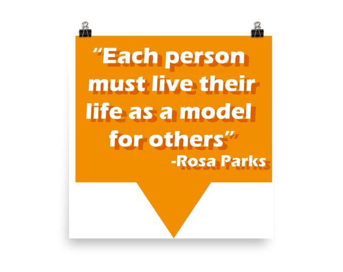 Rosa Parks Model Living Photo paper poster