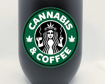Cannabis and coffee Insulated Tumbler