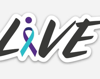 Live: Suicide Prevention Awareness stickers