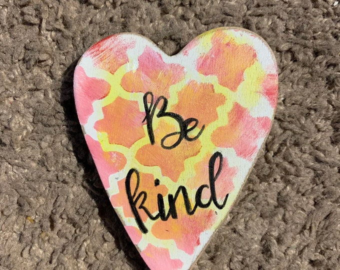 Be kind positive heart message