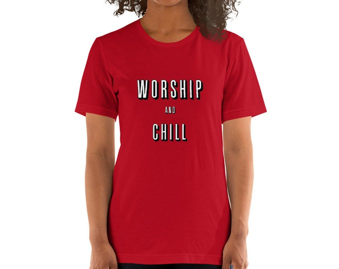 Featured listing image: Worship and Chill Short-Sleeve Unisex T-Shirt