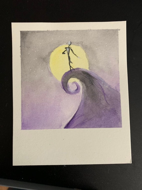 Nightmare before Xmas Watercolor
