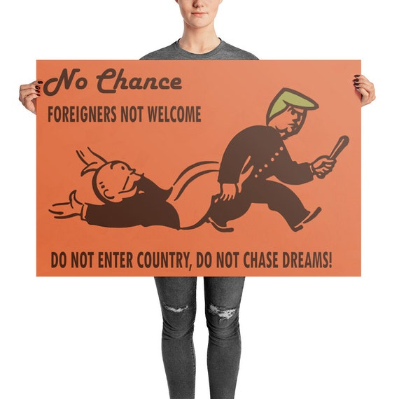 No Chance Photo paper poster