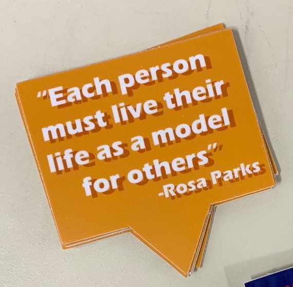 "3"" Rosa Parks Quote sticker"