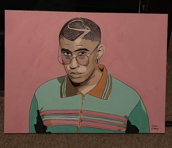 BadBunny Original Acrylic Painting