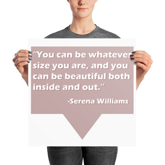 Serena Williams Beauty Photo paper poster