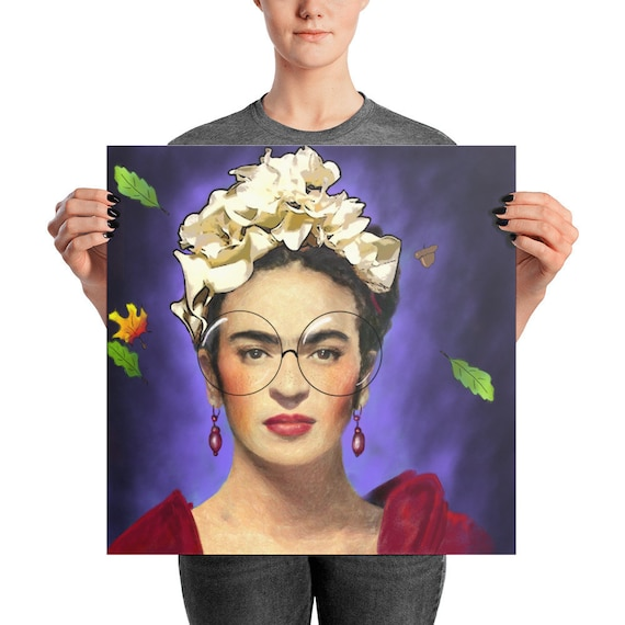 Filtered Kahlo Photo paper poster