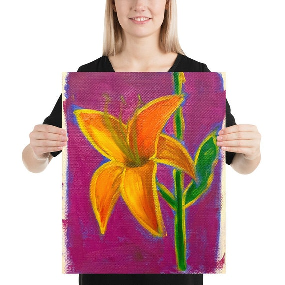 Lily Color flower Photo paper poster