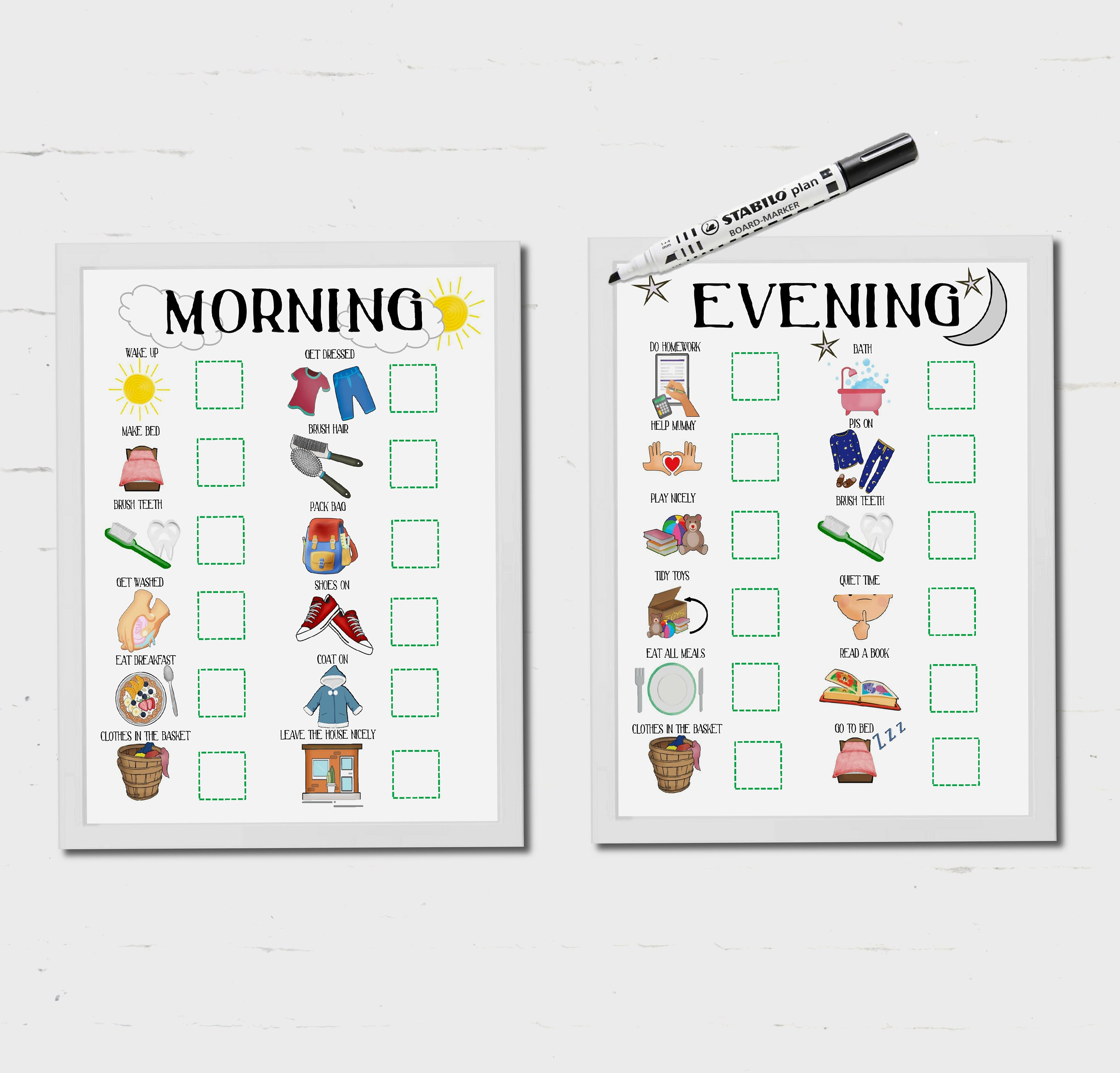Kids Daily Routine Visual Timetable Instant Download