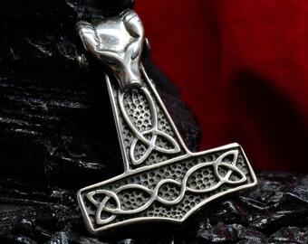 Silver Handmade 0.57oz 16g THORS HAMMER Pendant THOR Necklace Viking Mjolnir New