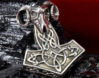 Silver 1.07oz 35gr THORS HAMMER Pendant THOR Necklace Viking Mjolnir Norse