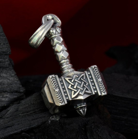 Thors Hammer Pendentif Thor Collier Viking Mjolnir Sterling Silver 1.11 OZ environ 31.47 g 32 G